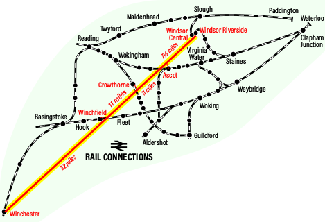 a map of the rail network in the area of the book